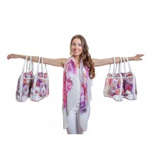 Floral Duo - Floral printed scarf & hand bag