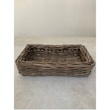 RATTAN THICK RECTANGULAR BAKERS TRAY - LARGE