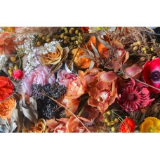 VICTORIA  - Floral linen tablecloth