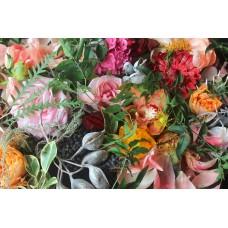 SARAH - Floral linen napkins