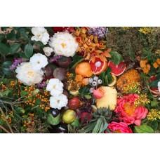 SUZY - Floral linen napkins