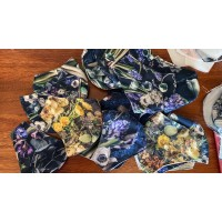 FEELING BLUE - Floral cotton face masks