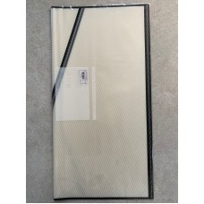 WATERPROOF WRAPPING PAPER - WHITE STRIPES BLACK BORDER