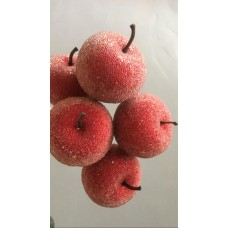 DECORATIVE APPLES - RED SUGAR