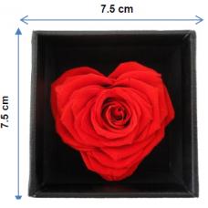 Preserved Heart Shape Rose In Box