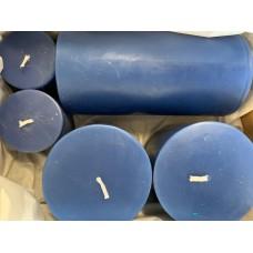 PILLAR CANDLES - BLUE